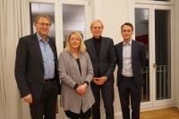 Olaf Duge (GRÜNE), Martina Koeppen (SPD), Peter Bahnsen (HIK), Jörg Hamann (CDU)
